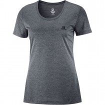 SALOMON - AGILE SS TEE W EBONY - WOMEN